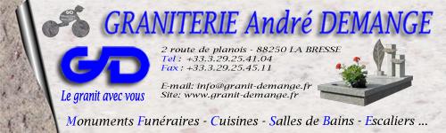 Graniterie André DEMANGE, le granit avec vous