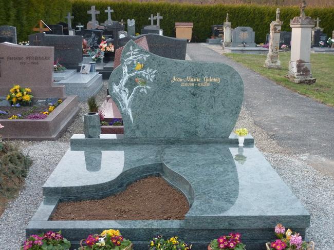 Pierre tombale en granit vert SAN FRANSISCO